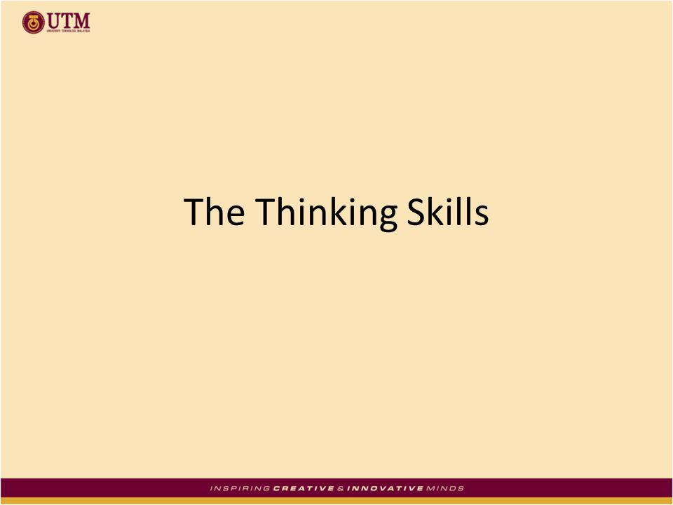 The Thinking Skills