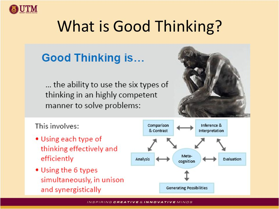 What is Good Thinking?