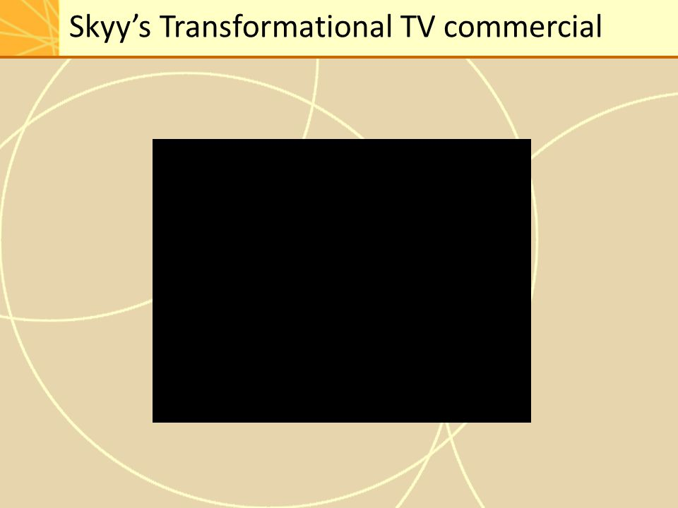 Skyy's Transformational TV commercial