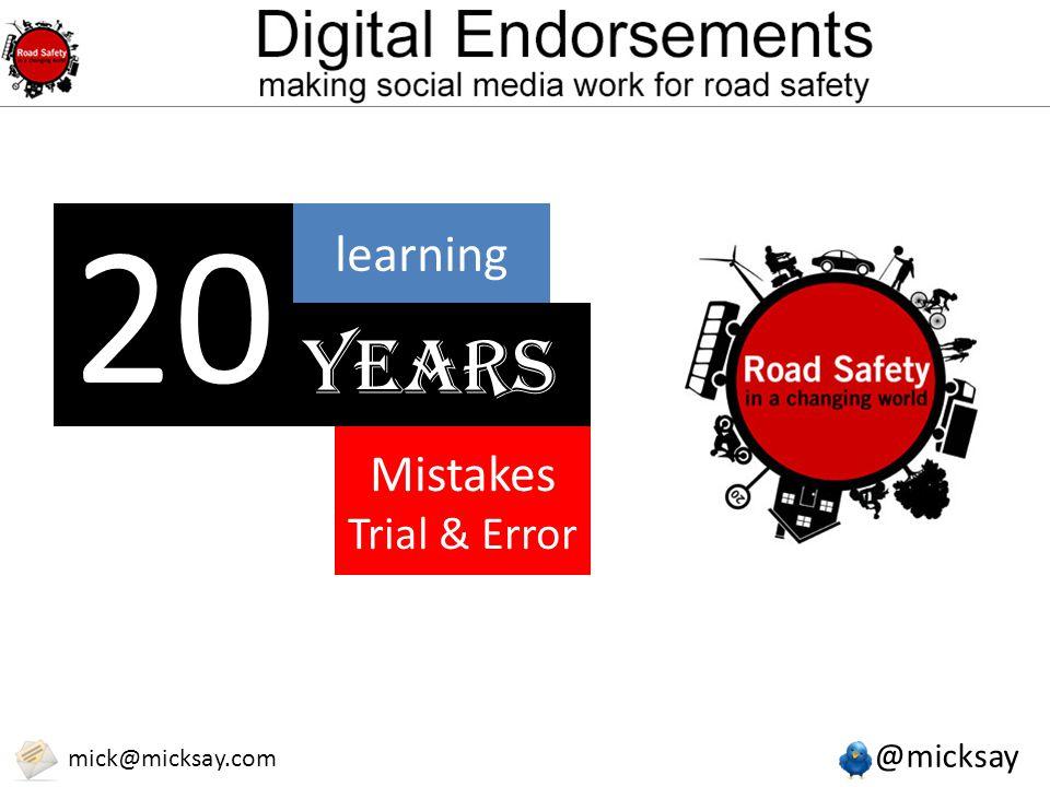@micksay mick@micksay.com Why social media & digital marketing is important for road safety organisations.