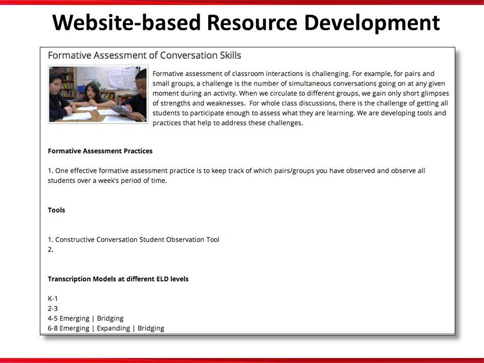 Website-based Resource Development