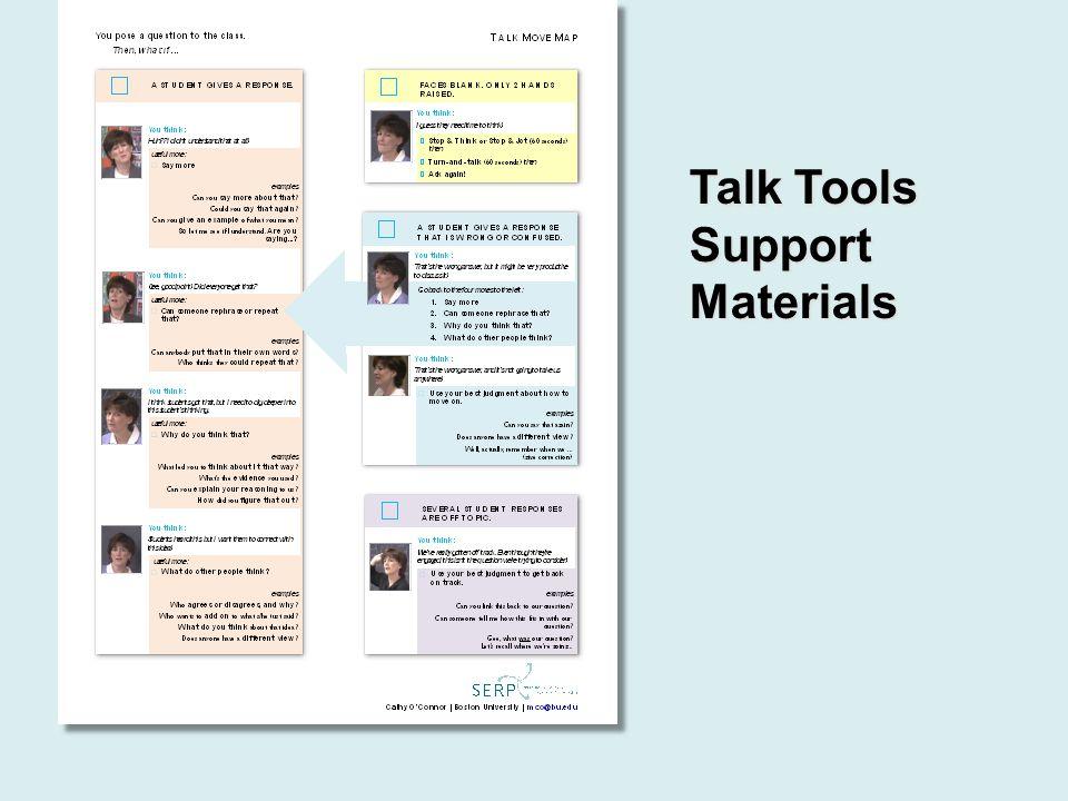 Talk Tools Support Materials