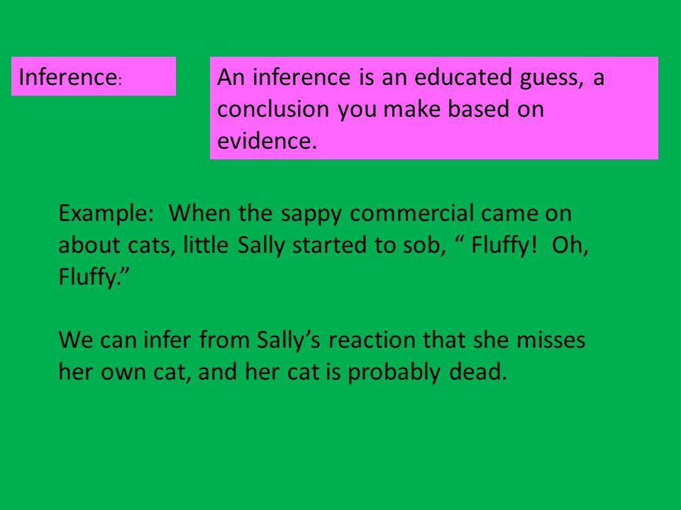 Inferences Pg.