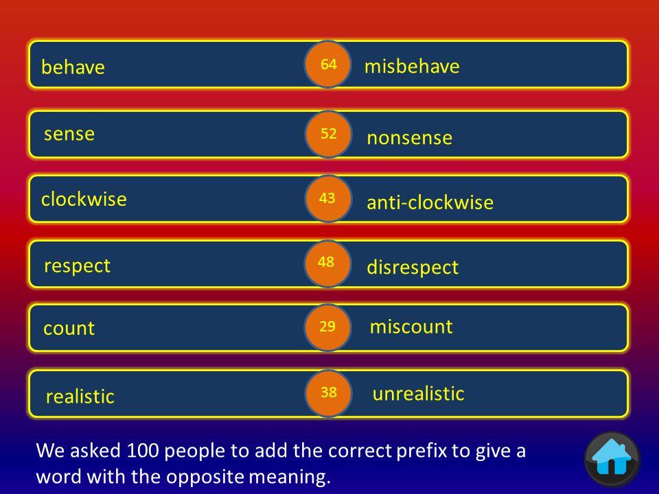 Opposites 1 Opposites 3 Opposites 2 Opposites 5 Opposites 4 im or in Prefixes