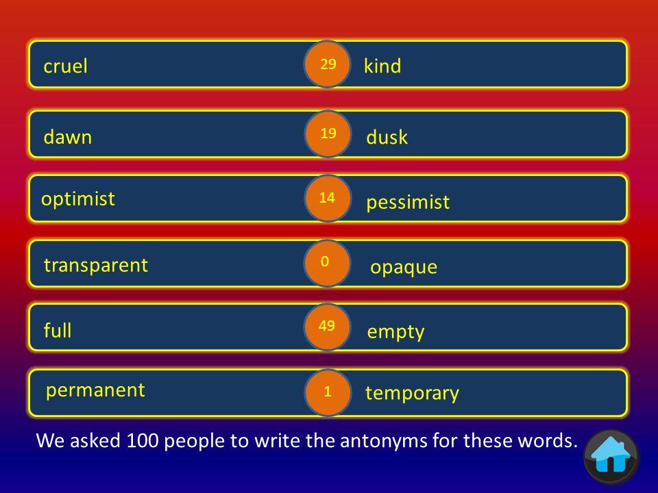 Antonyms 1 Antonyms 5 Antonyms 4 Antonyms 6 Antonyms 2 Antonyms 3 Antonyms