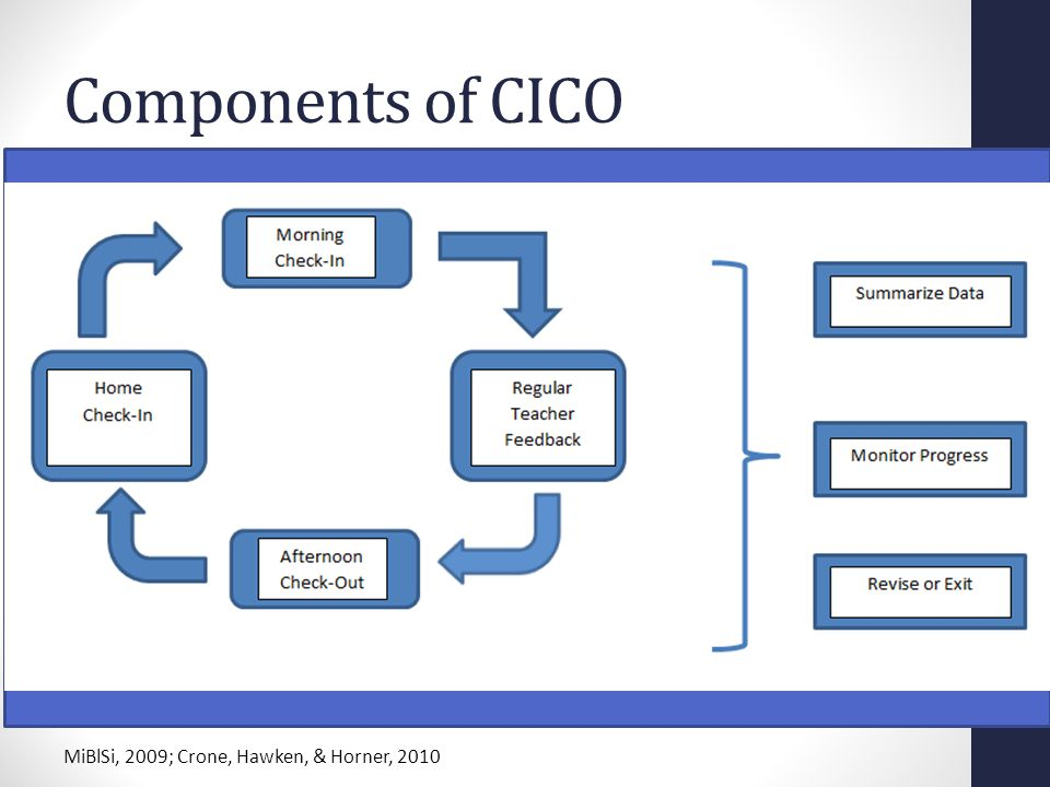 Components of CICO MiBlSi, 2009; Crone, Hawken, & Horner, 2010