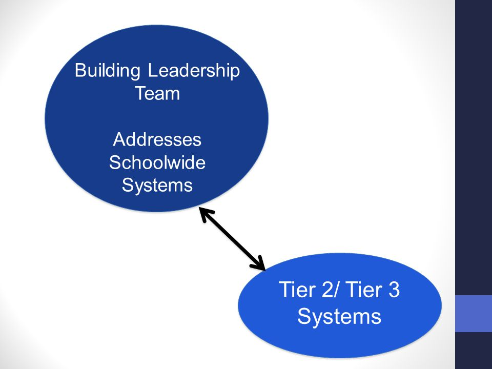Building Leadership Team Addresses Schoolwide Systems Tier 2/ Tier 3 Systems
