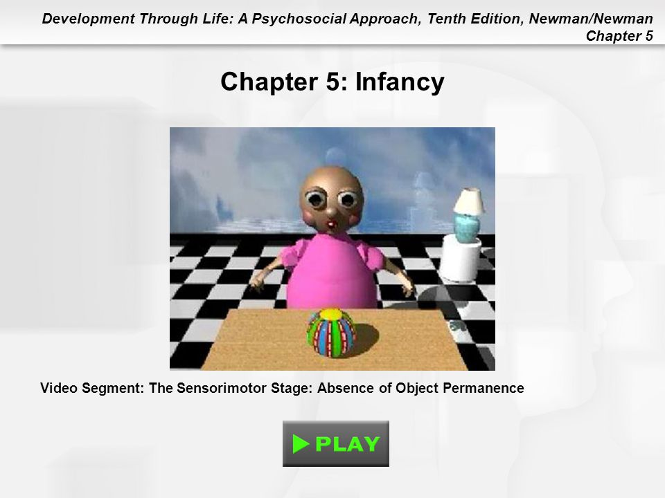 Development Through Life: A Psychosocial Approach, Tenth Edition, Newman/Newman Chapter 5 Chapter 5: Infancy Video Segment: The Sensorimotor Stage: Ab