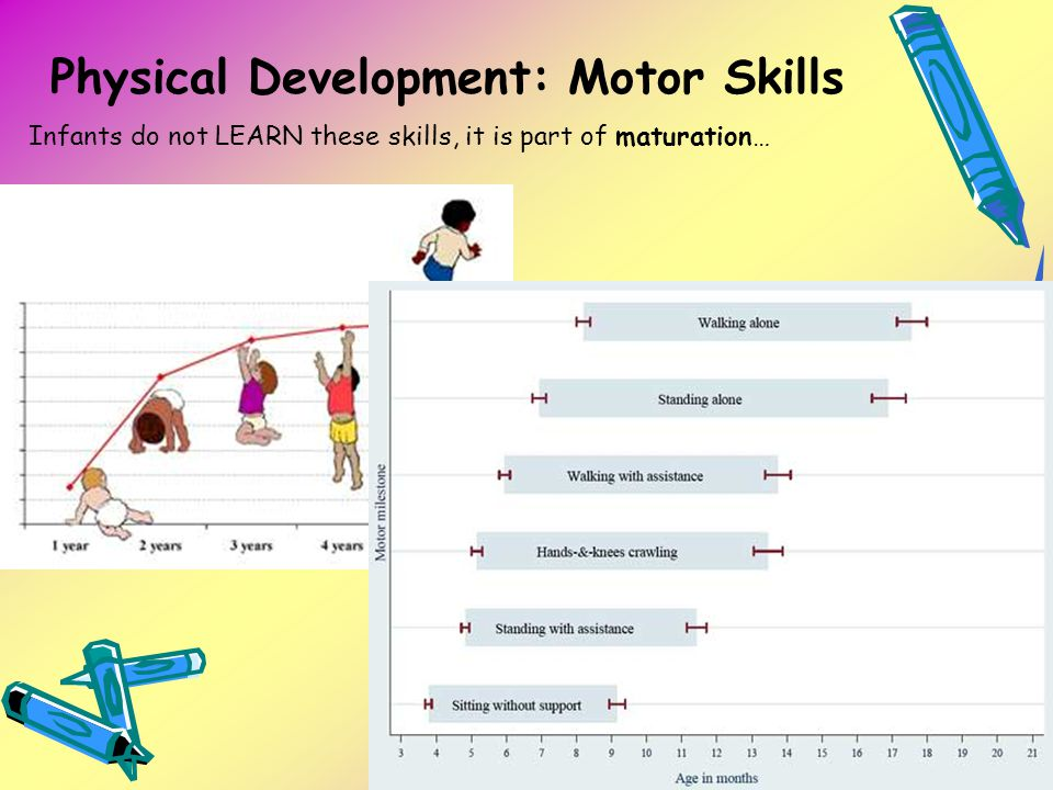Physical Development: Motor Skills Infants do not LEARN these skills, it is part of maturation…