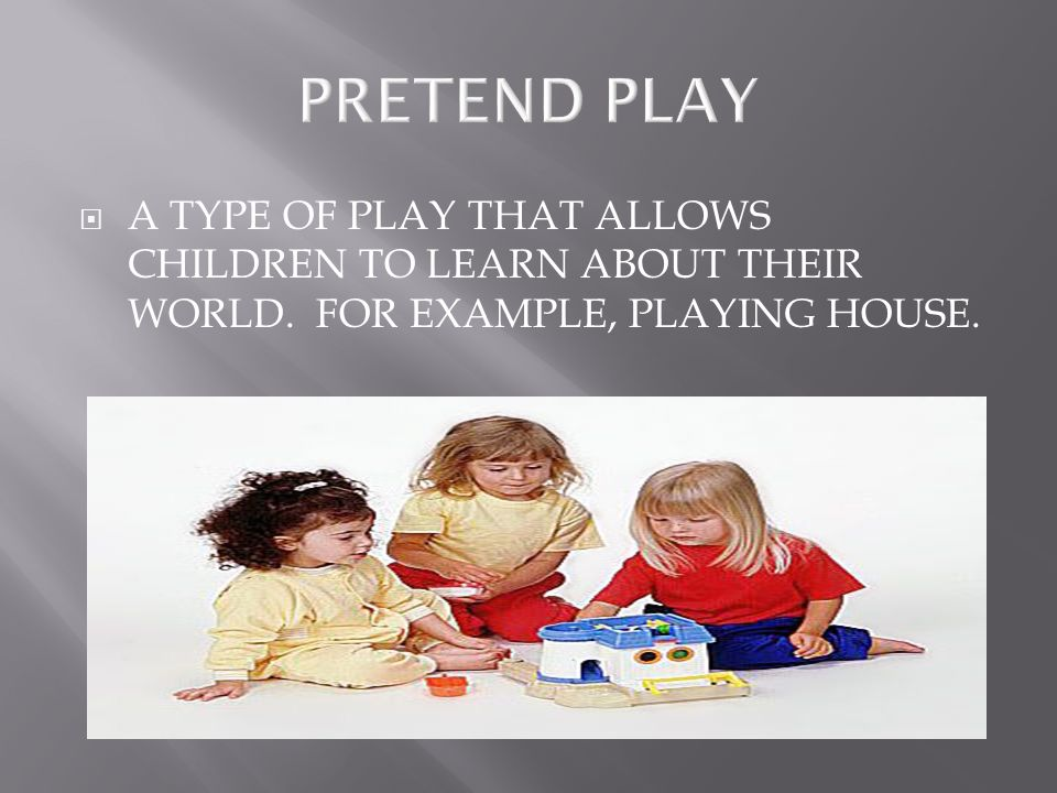  IS WHEN CHIDLREN PLAY TOGETHER, FOR EXAMPLE A GAME OF TAG.