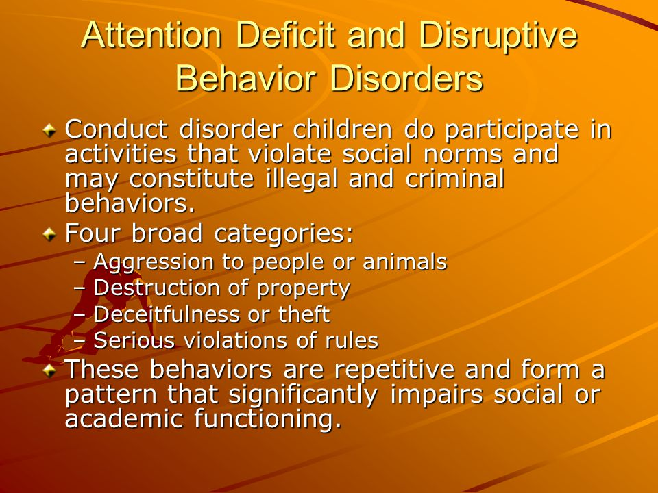 Feeding and Eating Disorders Distinguished by problems with the process of eating and retaining food or eating inappropriate food.