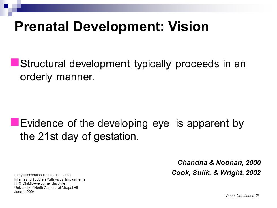 Understanding the Progression of Visual Development Provides us with the ability to assess functional vision in young children with visual impairment