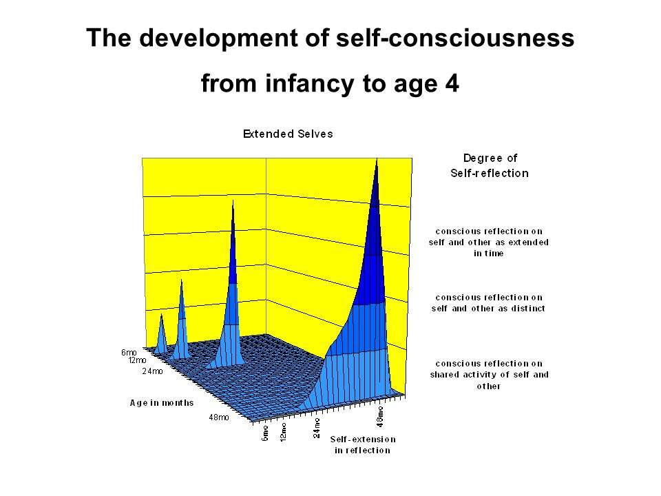 The development of self-consciousness from infancy to age 4