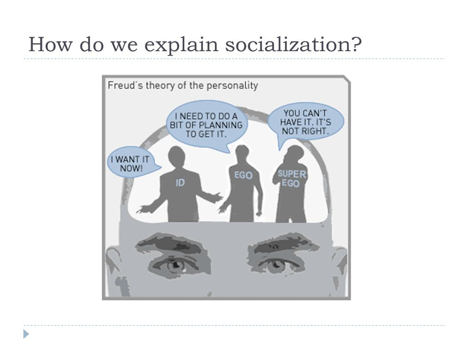 How do we explain socialization?