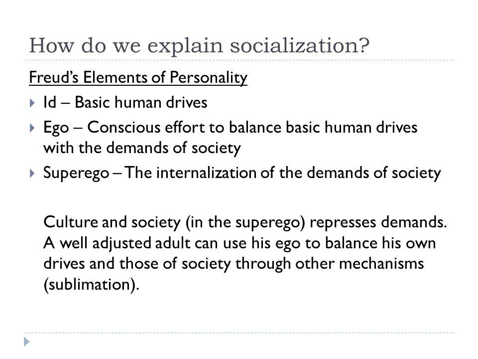 How do we explain socialization?