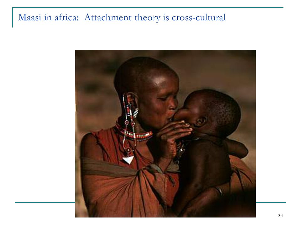 34 Maasi in africa: Attachment theory is cross-cultural