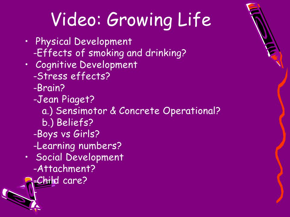 Video: Growing Life Physical Development -Effects of smoking and drinking.