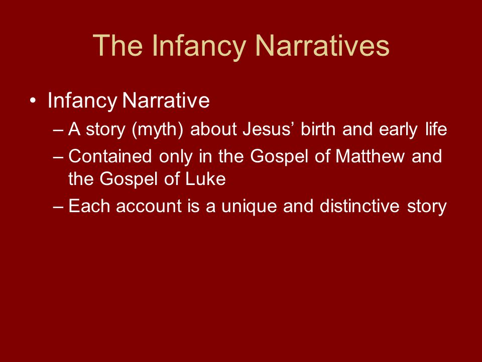 The Infancy Narratives Why.