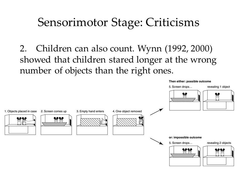 Sensorimotor Stage: Criticisms 2.Children can also count.