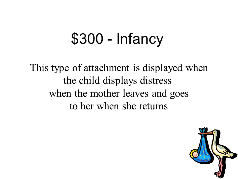 $200 Answer from Infancy What is attachment