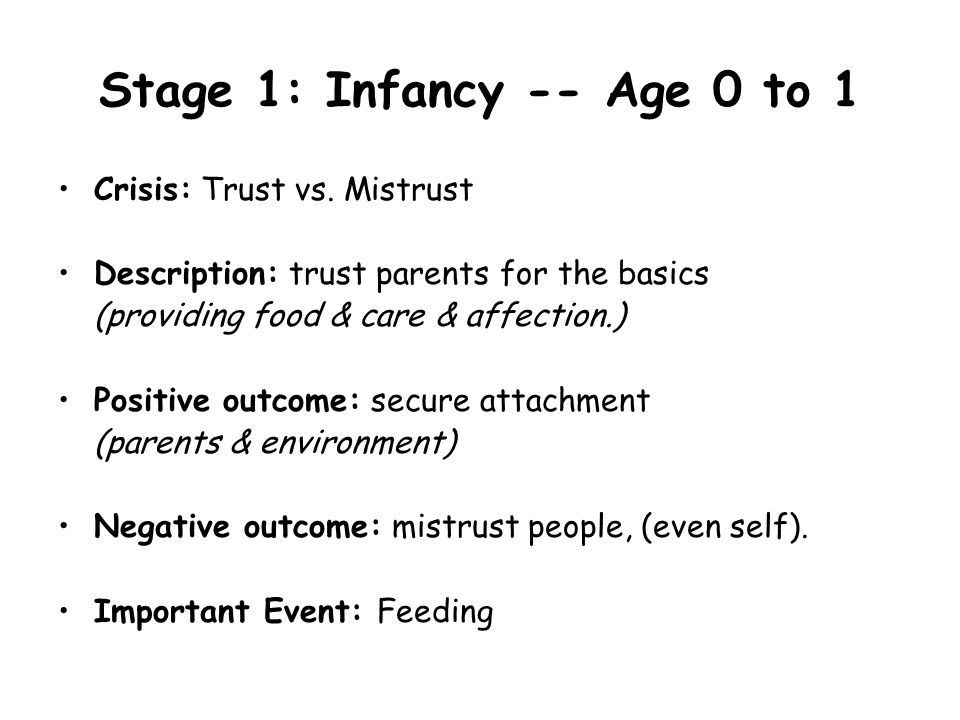 Stage 2: Toddler -- Age 1 to 2 Crisis: Independence vs.