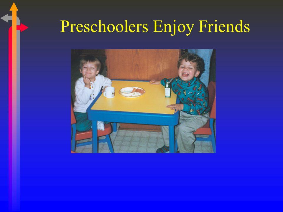Preschoolers Enjoy Friends