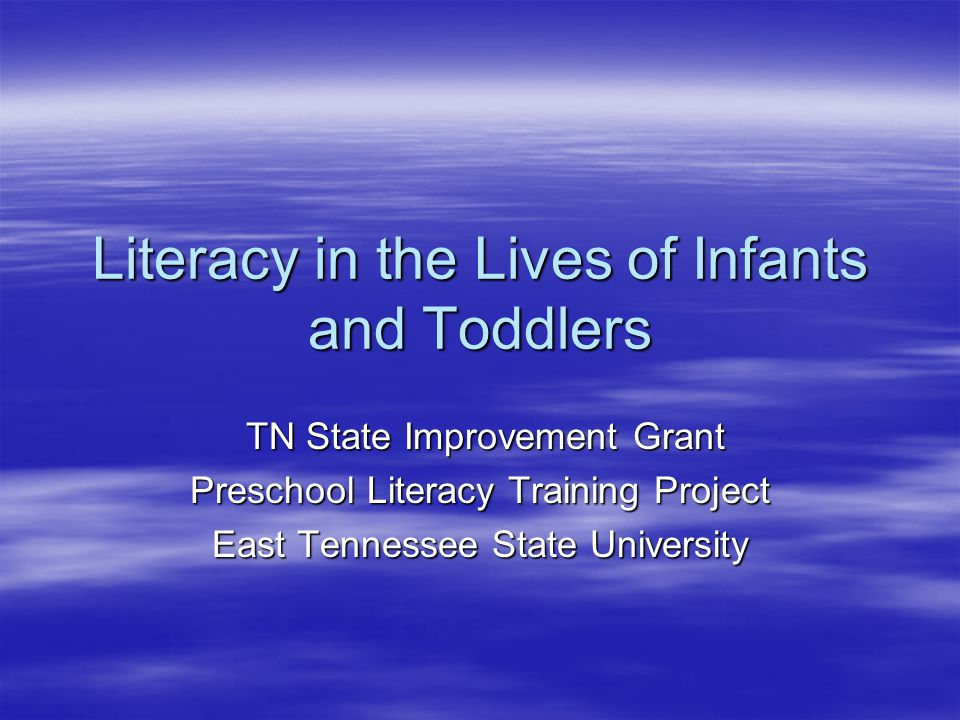 About SIG  The Preschool Literacy Training Project is part of the TN State Improvement Grant (SIG), which provides wrap- around services for Reading First schools and preschools that feed into those schools across the state  The Preschool Literacy Training Project offers parent workshops, curriculum support, and professional development opportunities for participating teachers  For more information, please contact Alissa Ongie at: 423-439-7841 or ongie@etsu.edu ongie@etsu.edu  http://sig.cls.utk.edu/ - TN SIG web site http://sig.cls.utk.edu/
