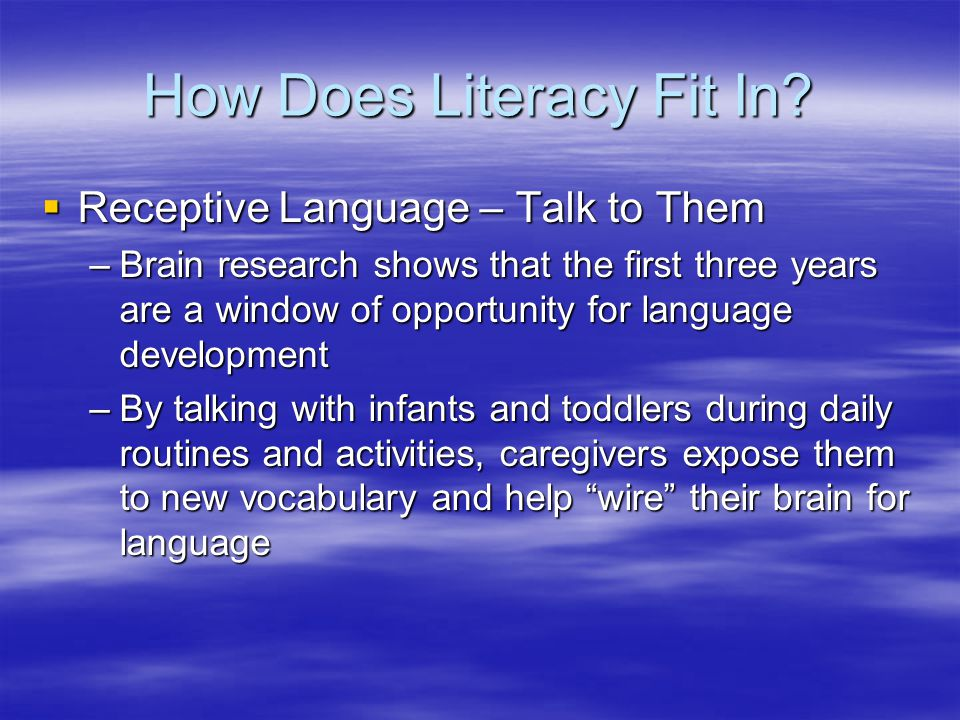 How Does Literacy Fit In.