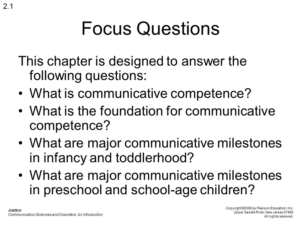 Focus Questions This chapter is designed to answer the following questions: What is communicative competence? What is the foundation for communicative