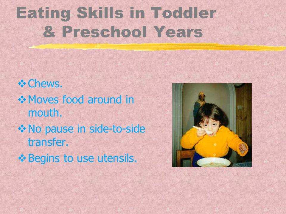 Eating Skills in Toddler & Preschool Years  Chews.