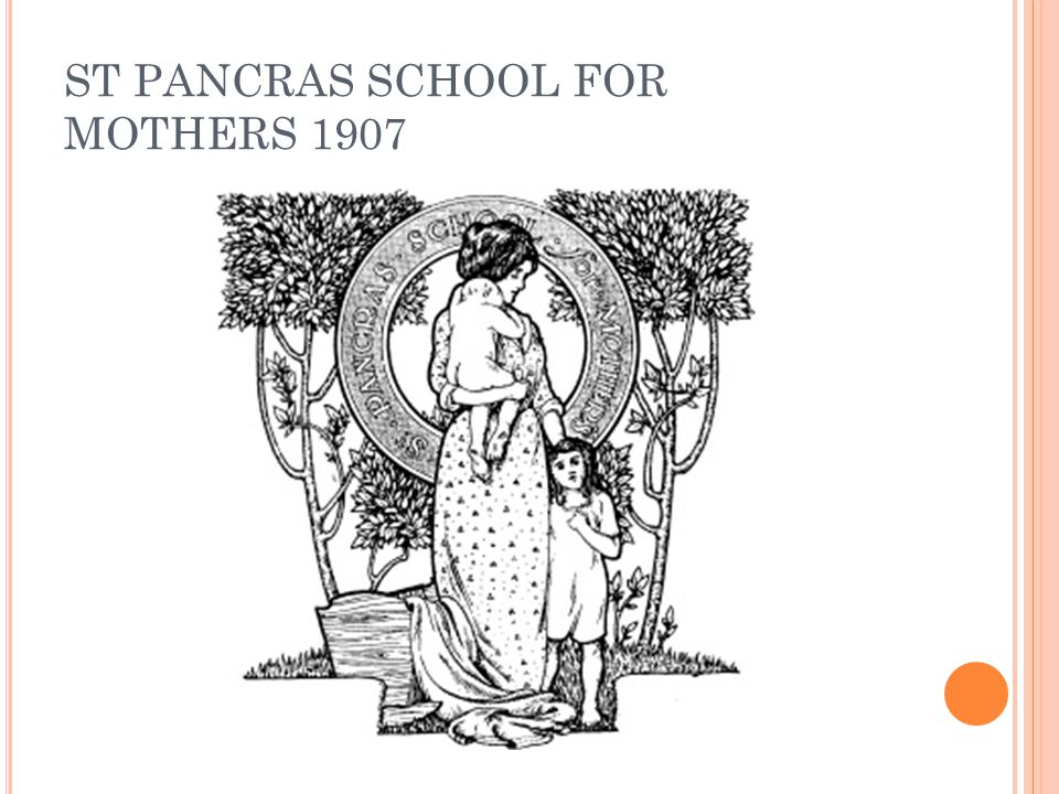 ST PANCRAS SCHOOL FOR MOTHERS 1907
