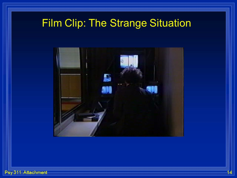 Psy 311: Attachment14 Film Clip: The Strange Situation