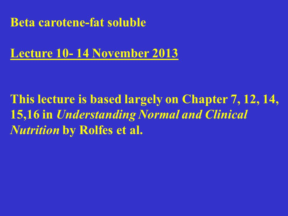 Lecture 10- 14 November 2013 Outline Water -role in metabolism -role in metabolic regulation