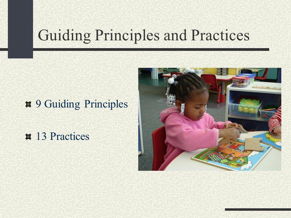 Guiding Principles and Practices 9 Guiding Principles 13 Practices