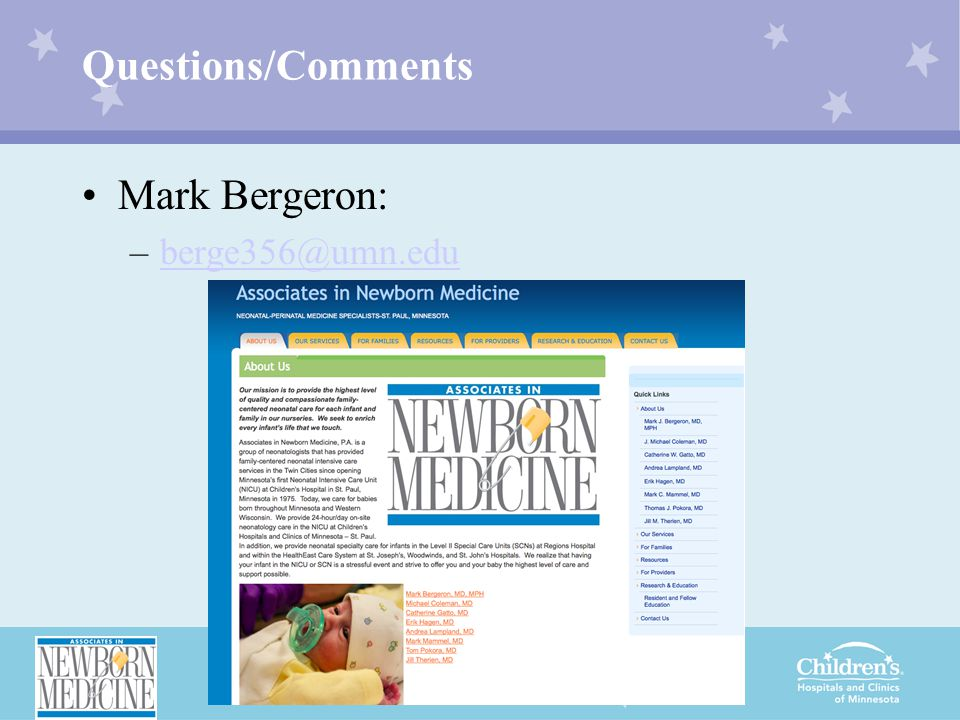 Questions/Comments Mark Bergeron: –berge356@umn.eduberge356@umn.edu