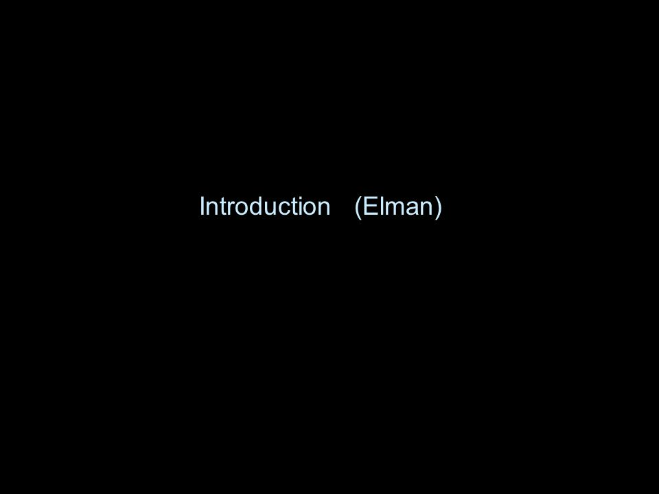 Introduction (Elman)