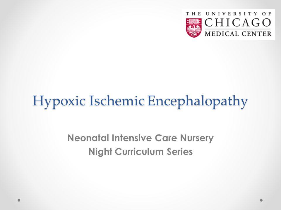 Hypoxic Ischemic Encephalopathy Neonatal Intensive Care Nursery Night Curriculum Series