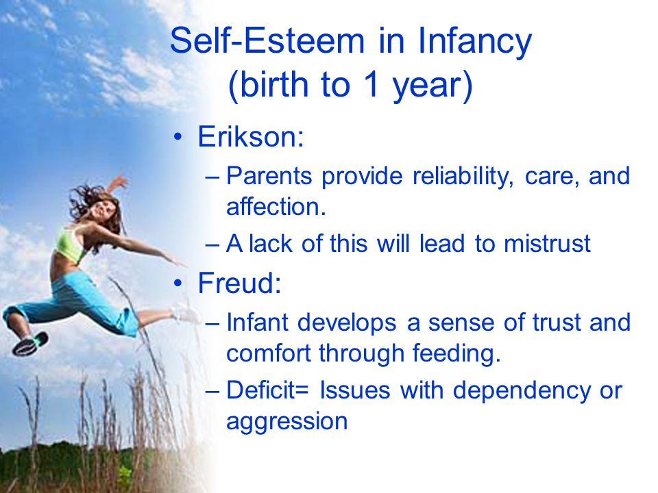 Self-Esteem into Maturity (Age 65 and beyond) Erikson: –Look back on life and feel a sense of fulfillment.