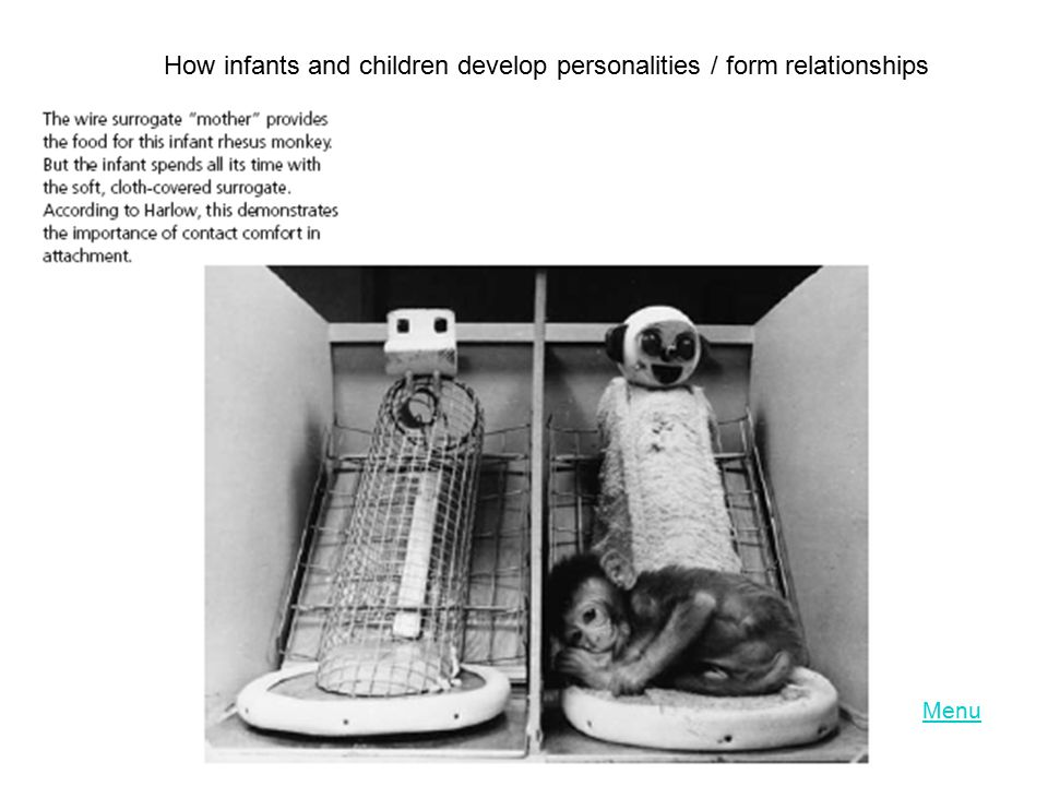 How infants and children develop personalities / form relationships
