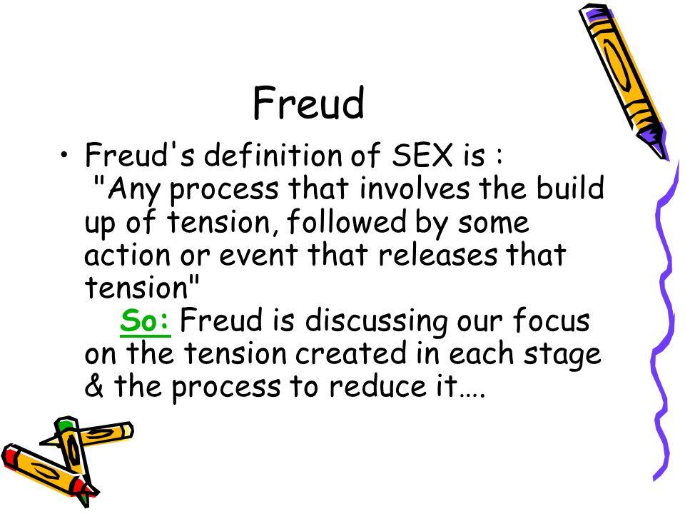 Freud Freud's definition of SEX is :