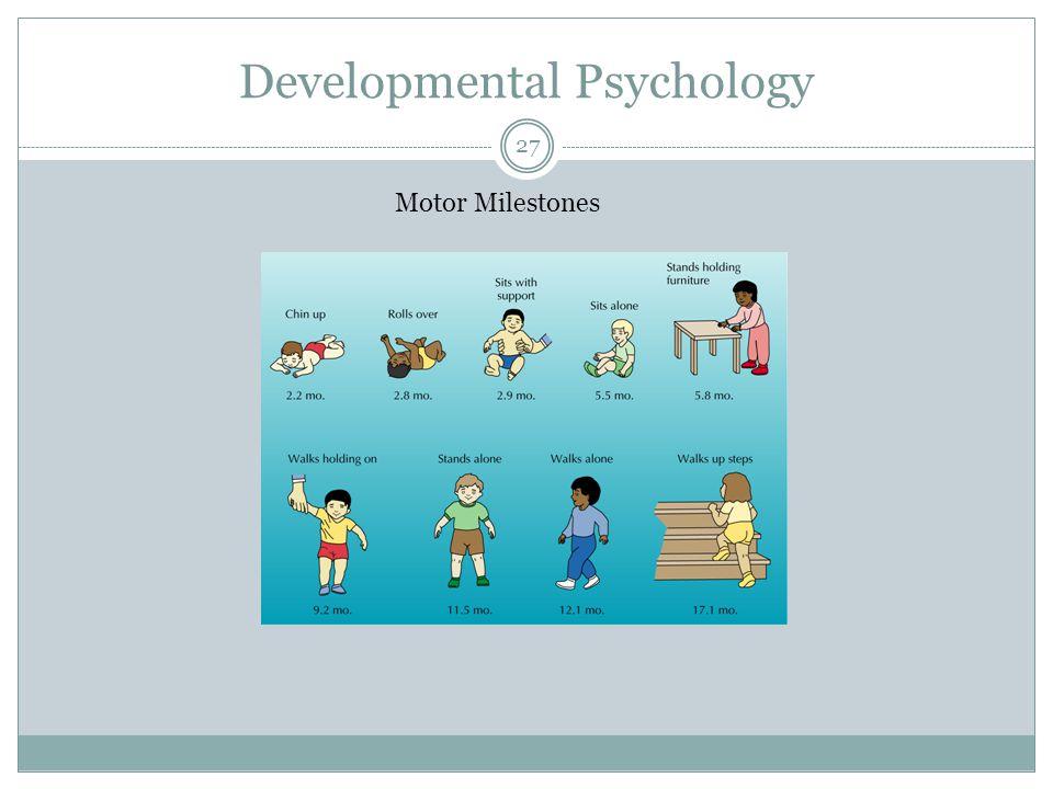 Developmental Psychology Motor Milestones 27