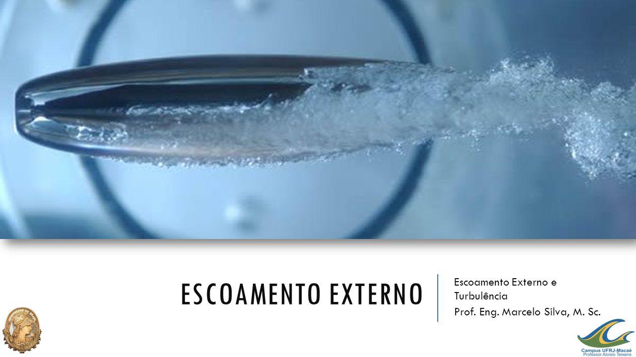 ESCOAMENTO EXTERNO Escoamento Externo e Turbulência Prof. Eng. Marcelo Silva, M. Sc.