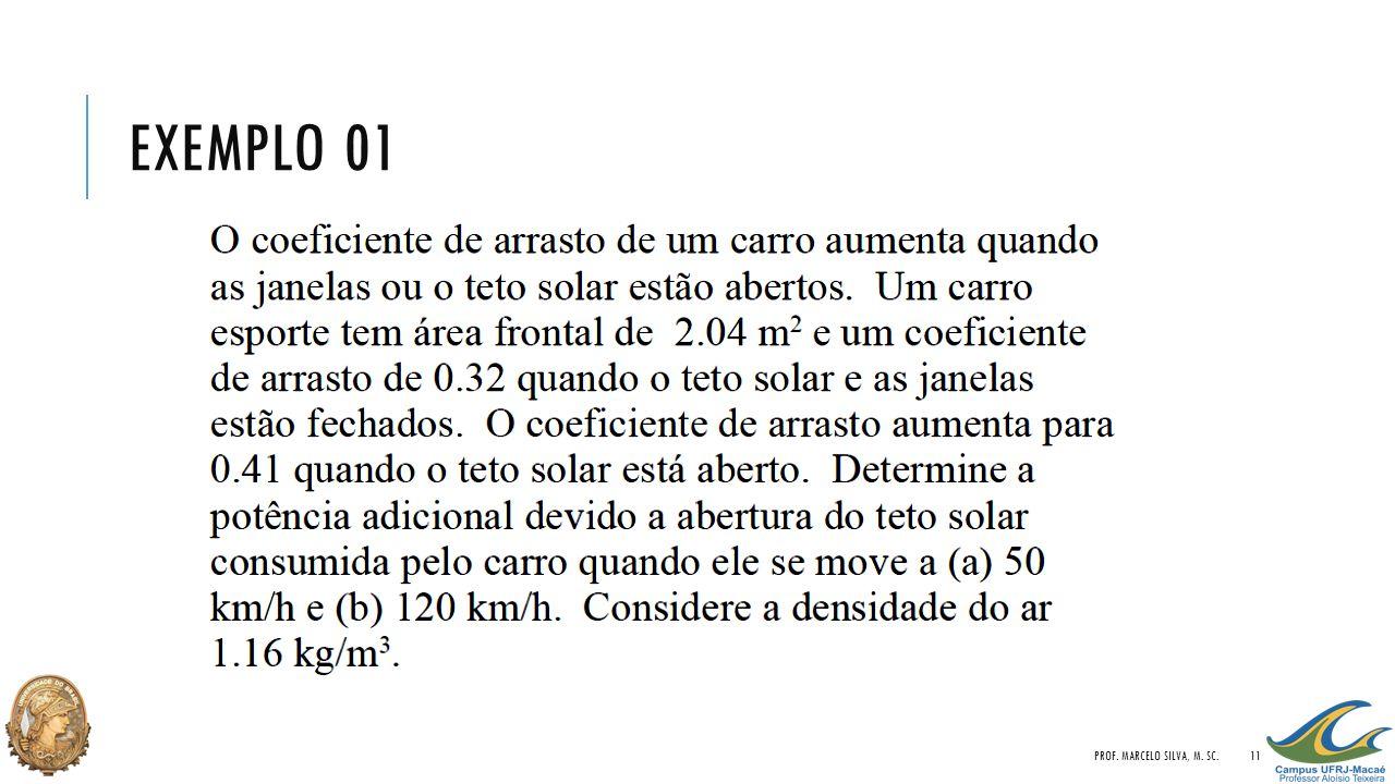 EXEMPLO 01 PROF. MARCELO SILVA, M. SC.11