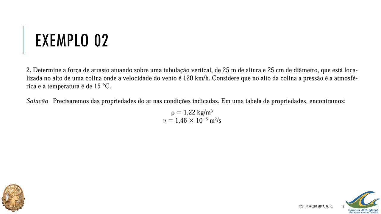 EXEMPLO 02 PROF. MARCELO SILVA, M. SC.12