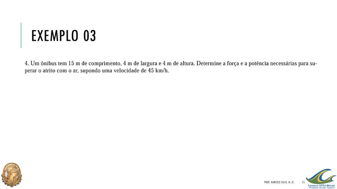 EXEMPLO 03 PROF. MARCELO SILVA, M. SC.13