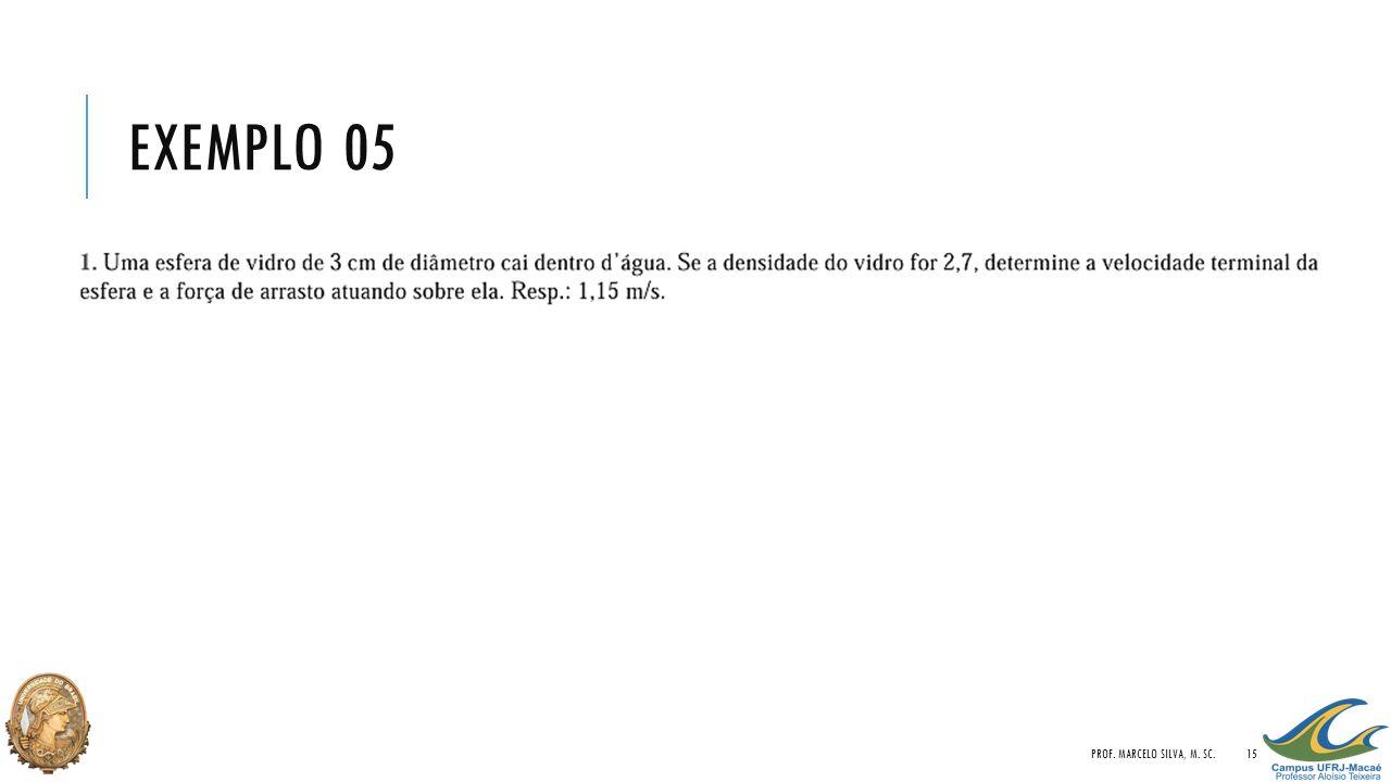 EXEMPLO 05 PROF. MARCELO SILVA, M. SC.15
