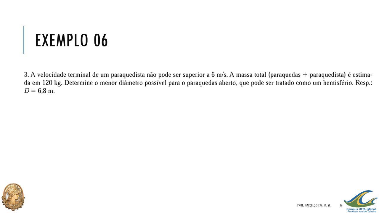 EXEMPLO 06 PROF. MARCELO SILVA, M. SC.16