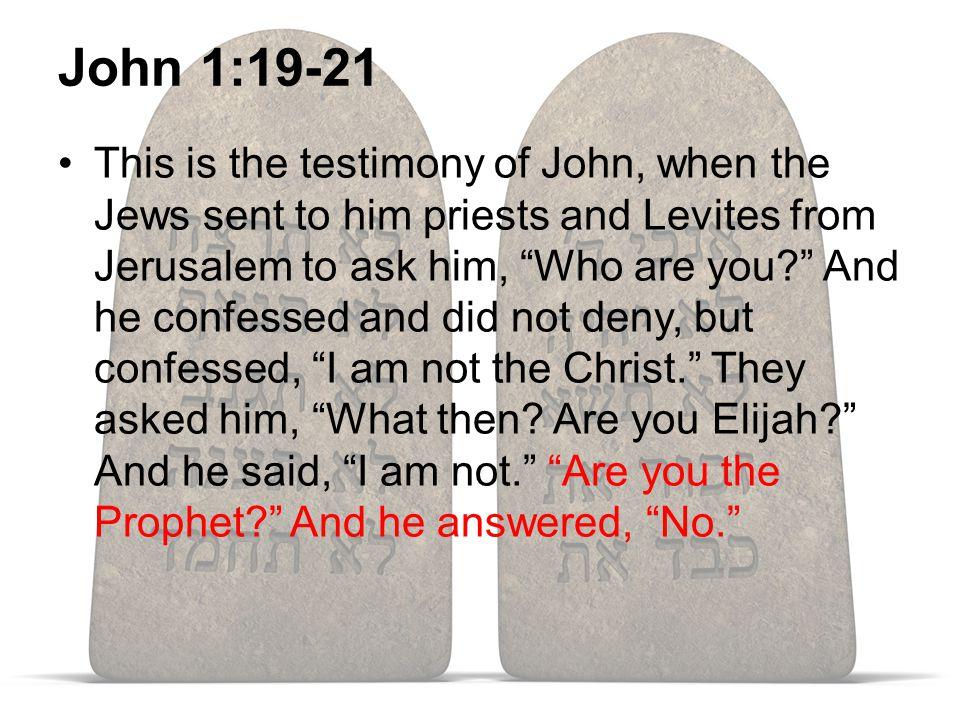 Jesus, A Prophet Like Moses Deut. 18:15-22