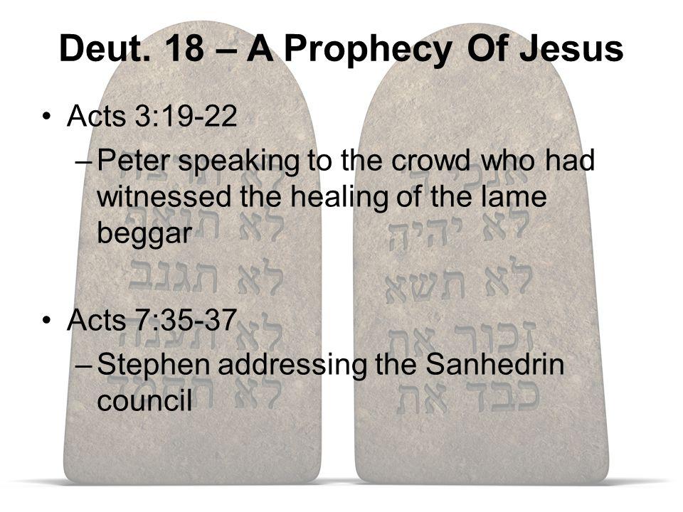 Jesus, A Prophet Like Moses Moses Jesus