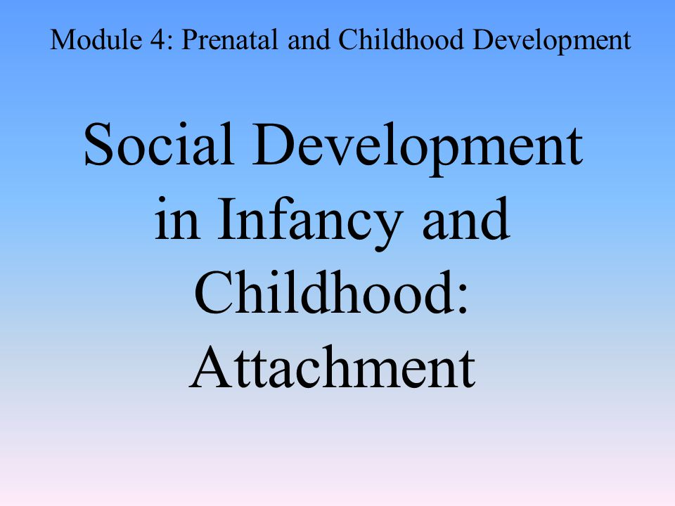 Attachment An emotional tie with another person resulting in seeking closeness Children develop strong attachments to their parents and caregivers.